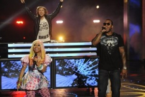 David Guetta, Flo Rida and Nicki Minaj on America's Got Talent