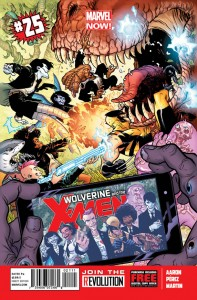 """Wolverine and the X-Men's"" 25th issue sees the feral X-Man travel to the Savage Land with several of his students. (Artwork property of Marvel Comics)"