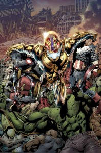 """Age of Ultron"" is suppose to be story that changes the Marvel Universe forever. But its first issue was lacking in the story department. (Cover artwork by Bryan Hitch, Paul Neary & Paul Mounts; Property of Marvel Comics)"