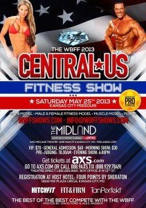 Some of the world's finest athletes will take the Midland Theatre stage by storm this weekend, as the WBFF Central US Fitness Show returns to Kansas City.  (Poster courtesy of the WBFF Central US Fitness Show)