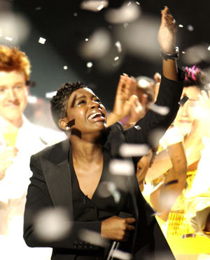 "There was not a dry eye in the house when Fantasia won ""Idol's"" third season (Photo property of FOX)"