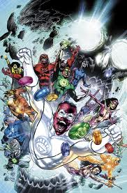 "Sinestro briefly bonded with the White Lantern Ring to save everyone from Nekron in the final chapter of ""Blackest Night."" (Artwork by Ivan Reis, Rod Reis and DC Comics)"