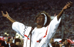 Whitney Houston's triumphant performance of the National Anthem moved a nation! (Photo property of George Rose/Getty Images)