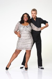 Amber Riley and Derek Hough DWTS