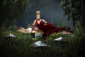 The Red Queen (Emma Rigby) is Wonderland's malevolent ruler. Will she cross paths with another wicked ruler (Cora) in the future? (Photo property of ABC's Bob D'Amico)