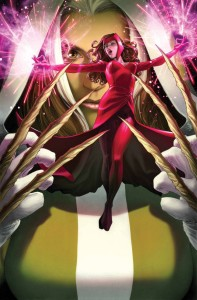 "Rogue finally confronts Scarlet Witch in the latest ""Uncanny Avengers."" (Cover property of Marvel Comics)"