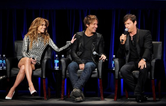 """Jennifer, Keith and Harry continue to have fun while finding new stars on """"American Idol."""" (Photo property of Kevin Winter/Getty Images)"""