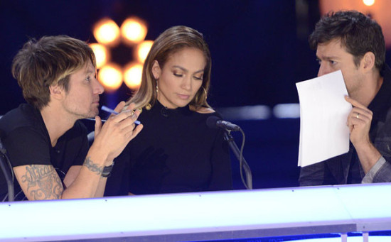 """For the final time this season, the """"American Idol"""" judges decided the fate of the remaining contestants. (Photo property of FOX, FremantleMedia North America and 19 Entertainment)."""