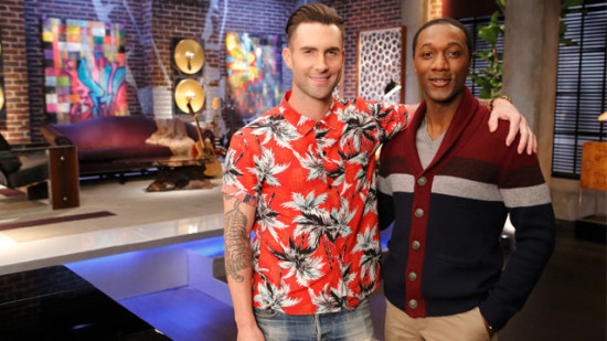 For the sixth season's battles, Adam Levine called in singer Aloe Blacc for assistance. (Photo property of NBC)