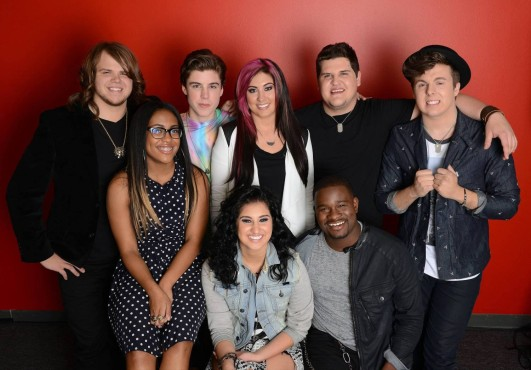 "The ""American Idol XIII"" Top Eight revisited their audition songs and performed duets during tonight's show. (Photo property of FOX)"