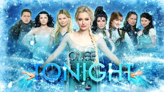"The ""Once Upon A Time"" family welcomed ""Frozen"" Princesses Elsa and Anna to the ABC drama at the beginning of the fourth season. (Photo property of ABC)"
