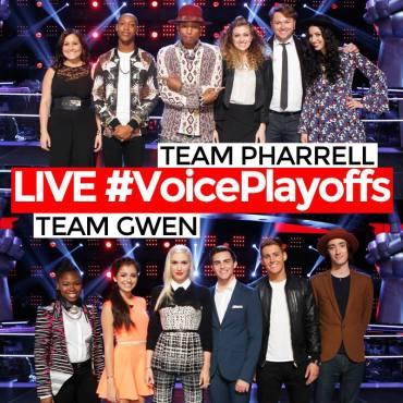 Team Pharrell and Team Gwen Voice Playoffs