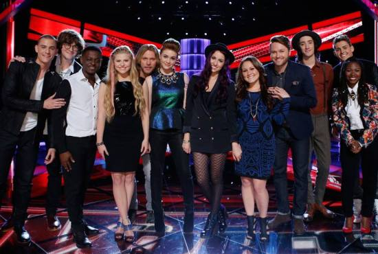 """""""The Voice: Season Seven"""" Top 12 reunited on tonight's episode! (Photo property of NBC)"""