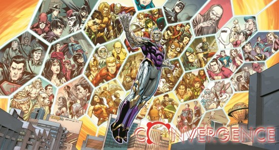 "Fan-favorite heroes,villains and storylines as Telos plotted in ""Convergence."" (Artwork by Carlo Pagulayan (pencils), Jose Marzan Jr. (inks) and Hi-Fi Colour (colors) & property of DC Comics)"