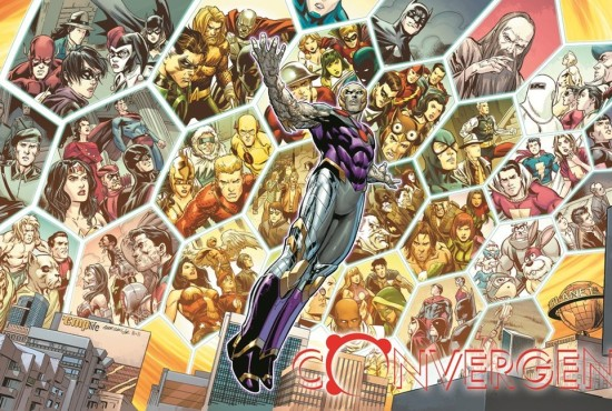 """Fan-favorite heroes,villains and storylines as Telos plotted in """"Convergence."""" (Artwork by Carlo Pagulayan (pencils), Jose Marzan Jr. (inks) and Hi-Fi Colour (colors) & property of DC Comics)"""