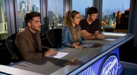 Adam Lambert Jennifer Lopez Harry Connick Jr. American Idol
