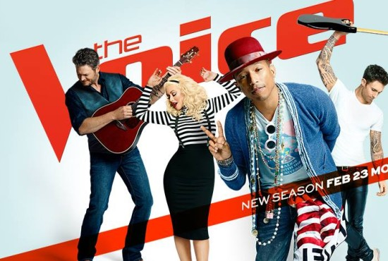 "Pharrell Williams leads ""The Voice"" coaches"
