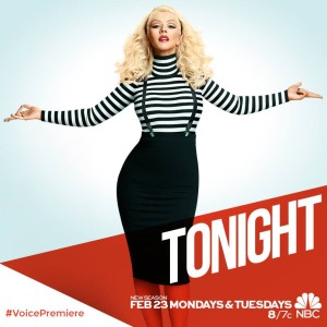 "Xtina returns to ""The Voice"" as Season Eight Blind Auditions begin!"