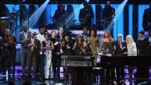 Stevie Wonder and friends perform at Grammy tributes
