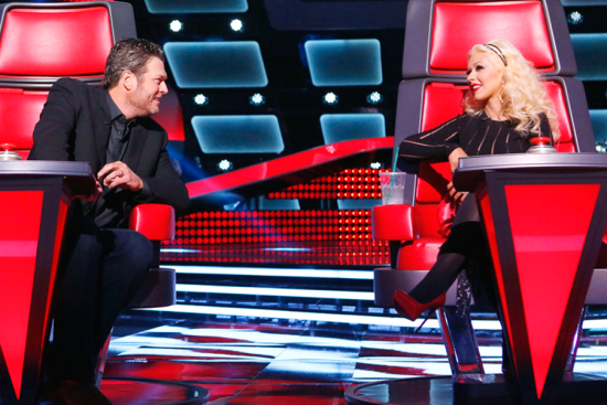 """Blake and Christina have a moment on """"The Voice"""""""