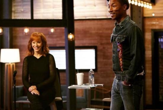 Reba McEntire and Pharrell Williams The Voice
