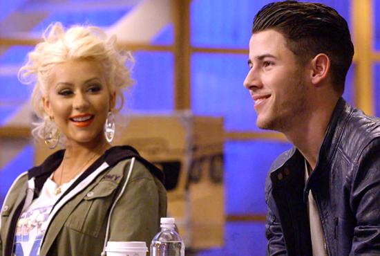 Nick Jonas and Christina Aguilera