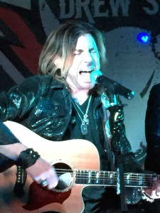 """Kansas City rocker Drew Six impressed the crowd at """"The Bull"""" release party at the Kill Devil Club. (Photo taken by Jacob Elyachar)"""