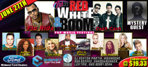 Mix 93.3 Red White & Boom 2015 poster
