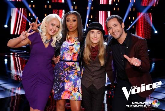 The Voice Season Eight Top Four