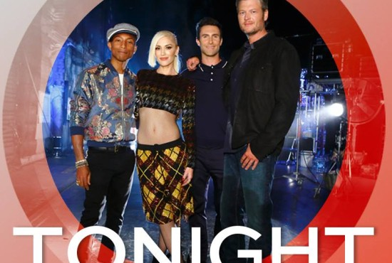 "Pharrell, Gwen, Adam and Blake targeted artists to join their teams during night four of ""The Voice: Season Nine"" Blind Auditions. (Photo & graphic property of NBC & United Artists Media Group)"