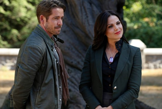 Did Robin Hood sacrifice himself to protect Regina and Storybrooke from the Dark One? (Photo property of ABC's Jack Rowand)