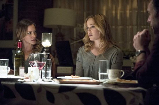 "Two years ago, the Lance Family sat at a dinner table without a care in the world. However, Laurel and Detective Lance's secrets were revealed on tonight's ""Arrow."" (Photo property of Bonanza Productions, Berlanti Productions, DC Entertainment & Warner Bros. Television)"