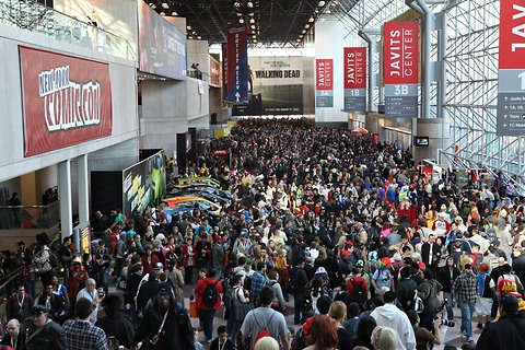 Thousands of fans are expected to flood the Jacob Javits Convention Center for the 2015 New York Comic Con. (Photo property of NYT's Fred R. Conrad)