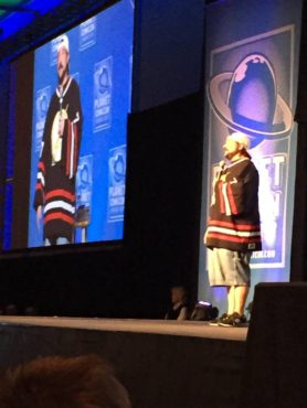 """Actor-director Kevin Smith brought his one-man show: """"An Evening with Kevin Smith"""" to Planet Comicon (Photo property of Jacob Elyachar)"""