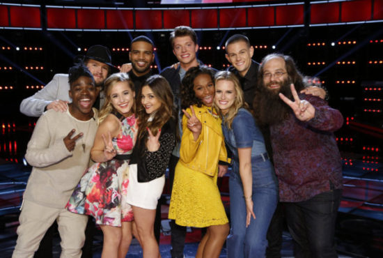 """The Voice: Season 10"" Top 10 pose together. (Photo property of NBC and United Artists Media Group)"