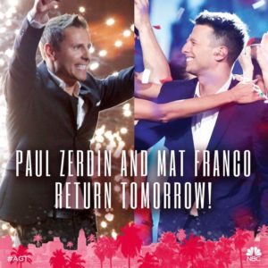 "Mat Franco & Paul Zerdin return home as ""AGT: Season 11"" reveals its first results!"
