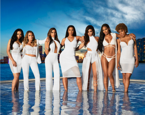 """The """"WAGS: Miami"""" cast stopped by """"Jake's Take"""" for an exclusive """"Five Question Challenge."""" (Photo courtesy of E! Entertainment Network)"""