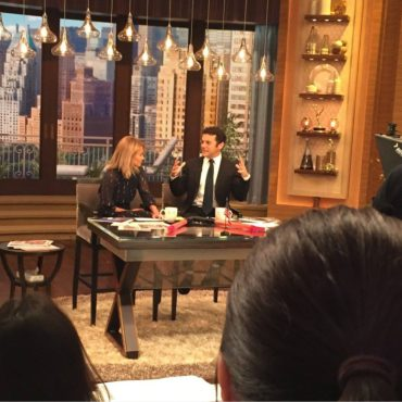 "My view from ""Live with Kelly & Fred Savage."" (Photo property of Jake's Take)"