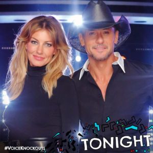 "Tim McGraw & Faith Hill usher in ""The Voice: Season 11"" Knockouts!"