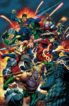 The Justice League will face off against the Suicide Squad during the first month of 2017! (Artwork property of DC Comics)