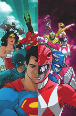 Your eyes are not deceiving you! The Justice League and the Mighty Morphin' Power Rangers will meet for the very first time! (Artwork property of DC Comics & BOOM! Studios)